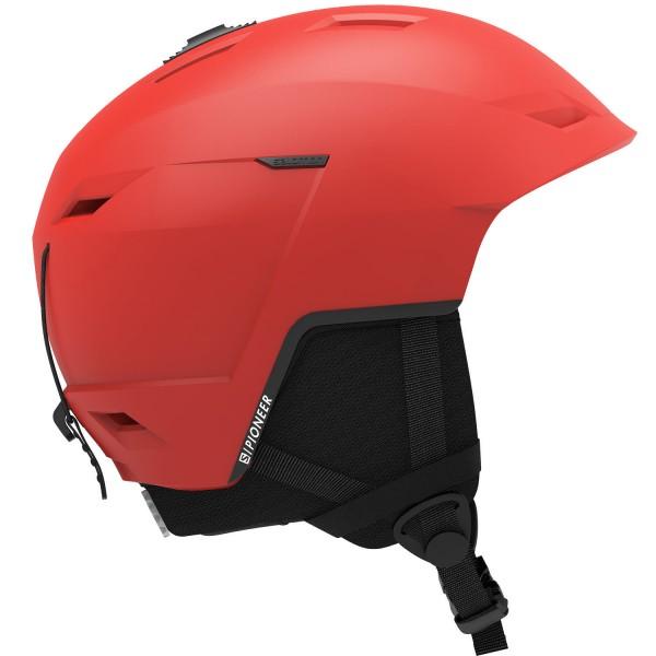 Salomon Helm PIONEER LT Red Flashy L 5962 Skihelm
