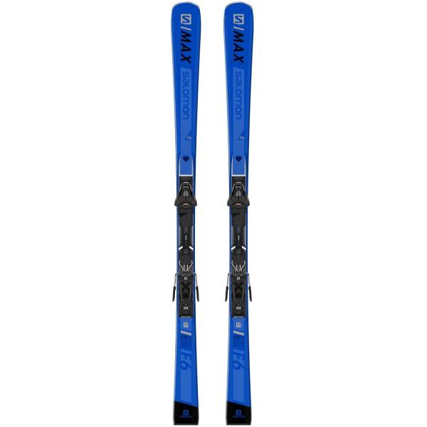 Salomon E S/MAX F6 + L10 GW L80 Blue/Black Ski