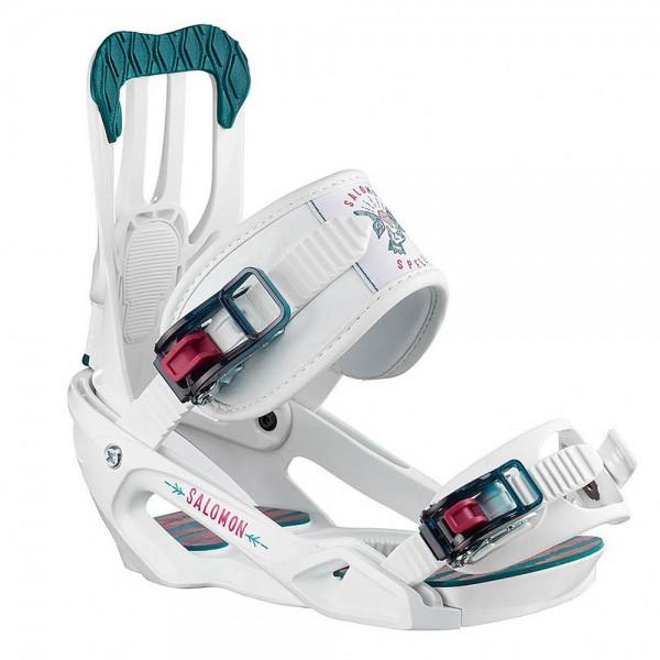 Salomon SB Bindung SPELL White,WHITE Snowboardbindung