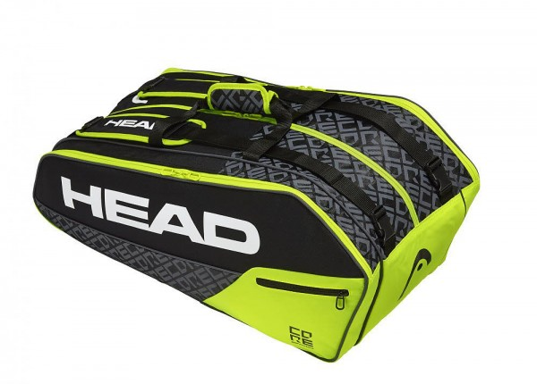 Head Core 9R Supercombi,black/neon yello Tennistasche