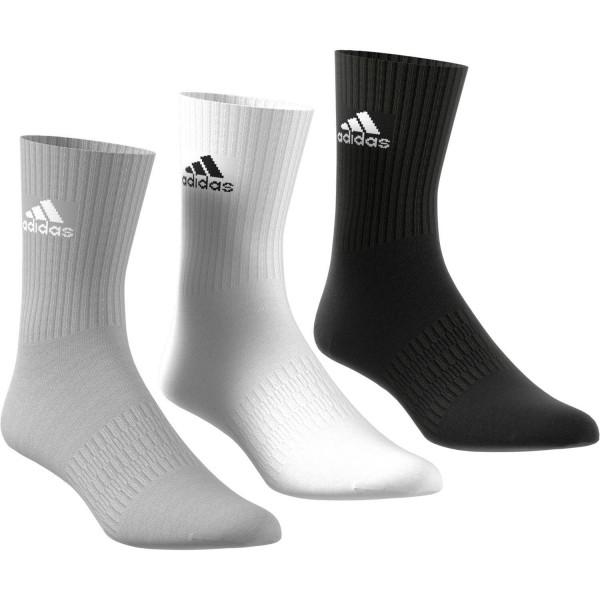 Adidas NOS CUSH CRW 3PP,MGREYH/MGREYH/BLAC Socken