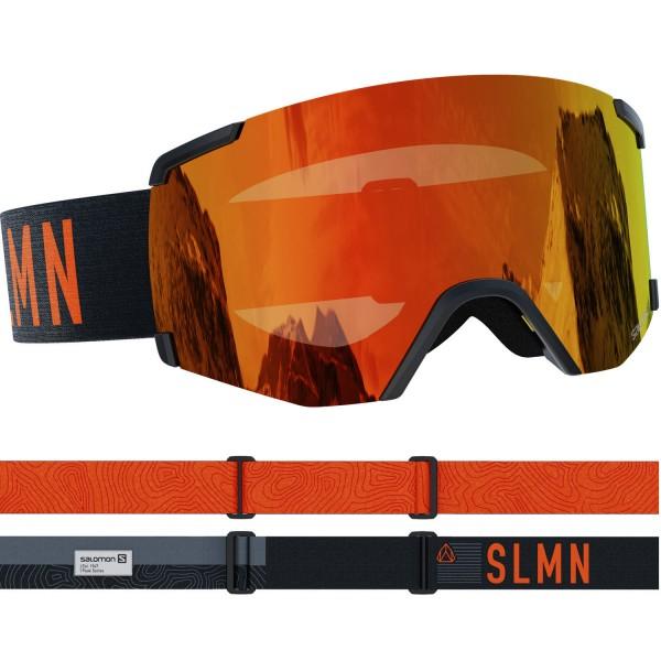 Salomon S/VIEW Bk/Univ. Mid Red NS Skibrille