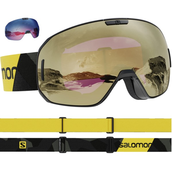 Salomon S/MAX SIGMA BkLemon/Sol BkGold NS Skibrille