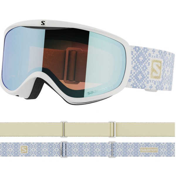 Salomon SENSE White Ice/LoLight L.Blue NS Skibrille