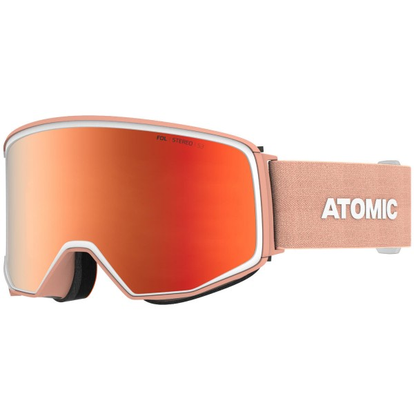 Atomic FOUR Q STEREO Peach/ALL WEATHE Skibrille