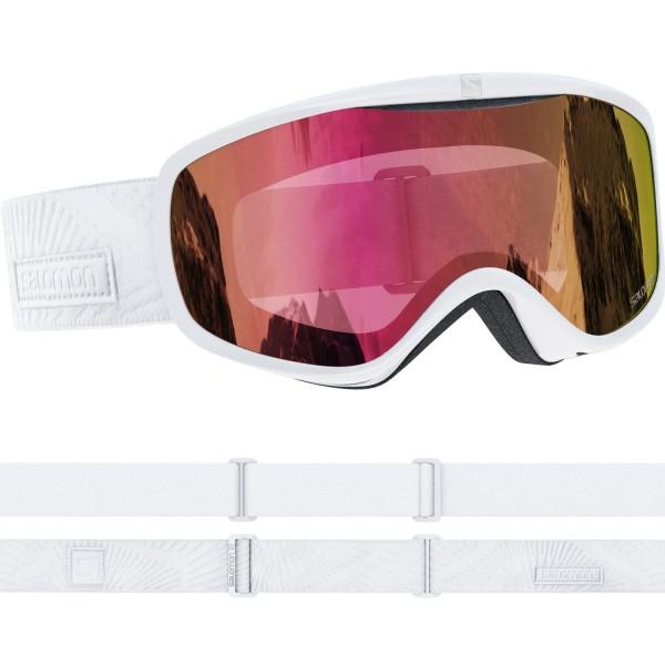 Salomon SENSE White Rays/Univ. Ruby NS Skibrille