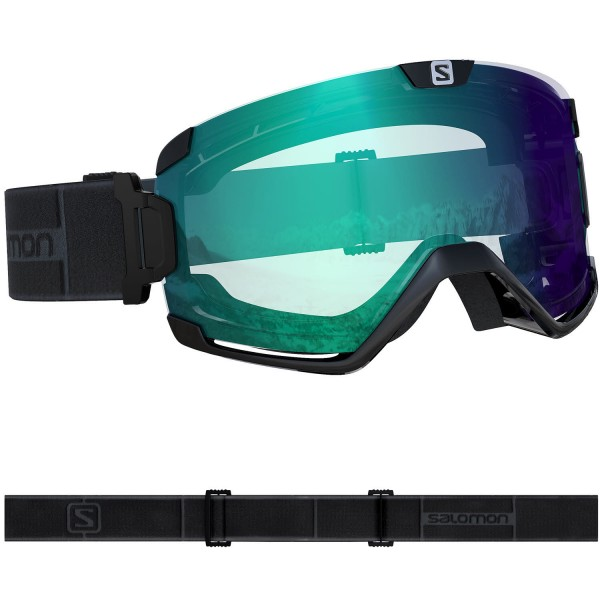 Salomon COSMIC PHOTO Blk/AW Blue NS Skibrille