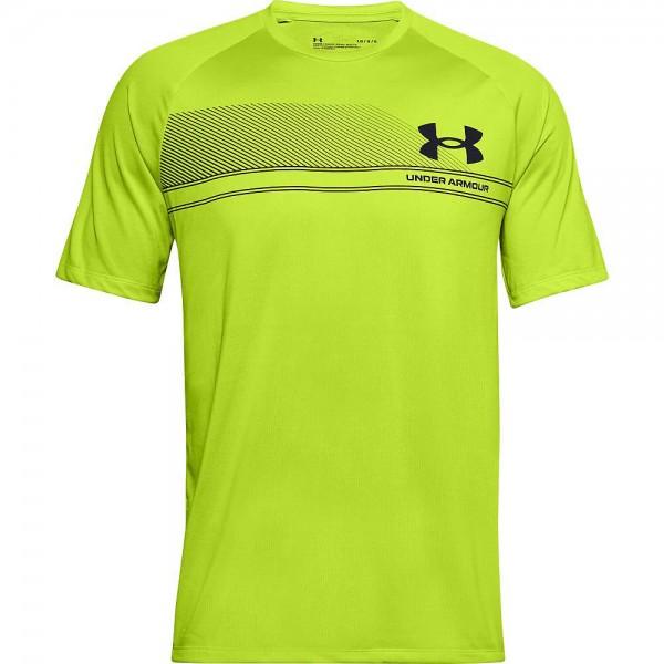 Under Armour UA LOGO WORDMARK TECH SS,Green Citr T-Shirt - Bild 1