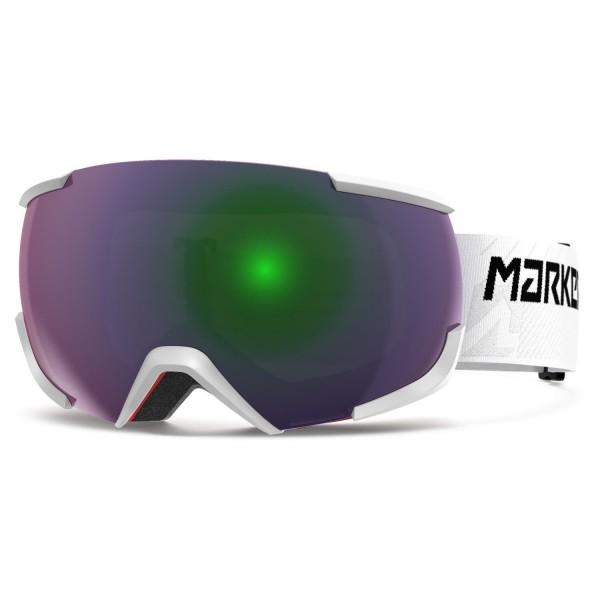 Marker 16:10+MAP WHITE w/GREEN PLASMA MI Skibrille