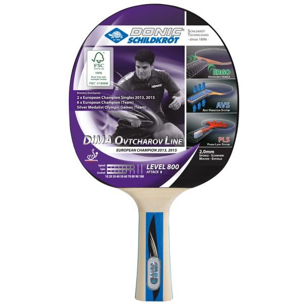 Donic-Schildkroet TT-Schläger DIMA OVTCHAROV 800 FSC Tischtennisschläger - Bild 1