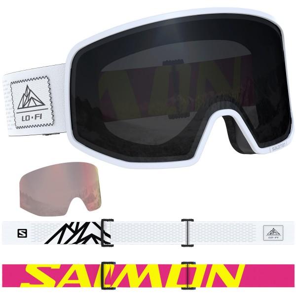 Salomon LO FI Blk & Wh/Solar Black NS Skibrille