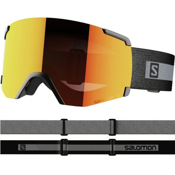 Salomon S/VIEW BkBrand/Uni Mid Red NS Skibrille