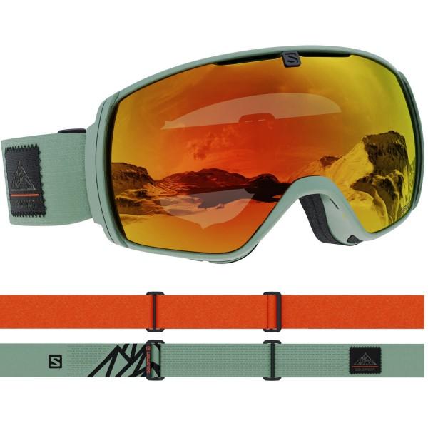 Salomon XT ONE OilGreenQst/Uni Mid Red NS Skibrille