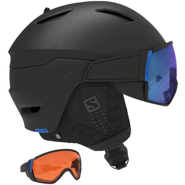 Salomon Helm DRIVER CA Black/Solar Blue L 5 Skihelm