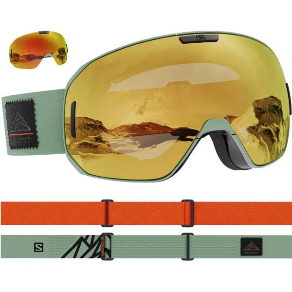 Salomon S/MAX OilGreen/Solar Bronze NS Skibrille