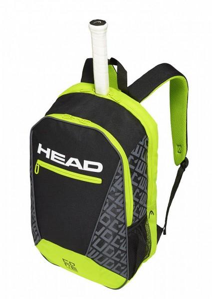 Head CORE Backpack,black/neon yellow Tennistasche
