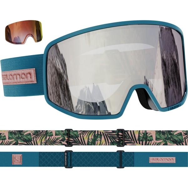 Salomon LO FI DpTeal/Uni SuperWhite NS Skibrille