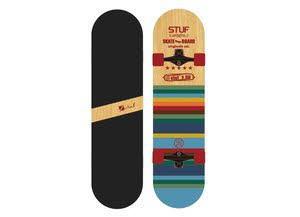 """Stuf BLUES SKATEBOARD, 31"""" x 7,75"""",wood Skateboard"""