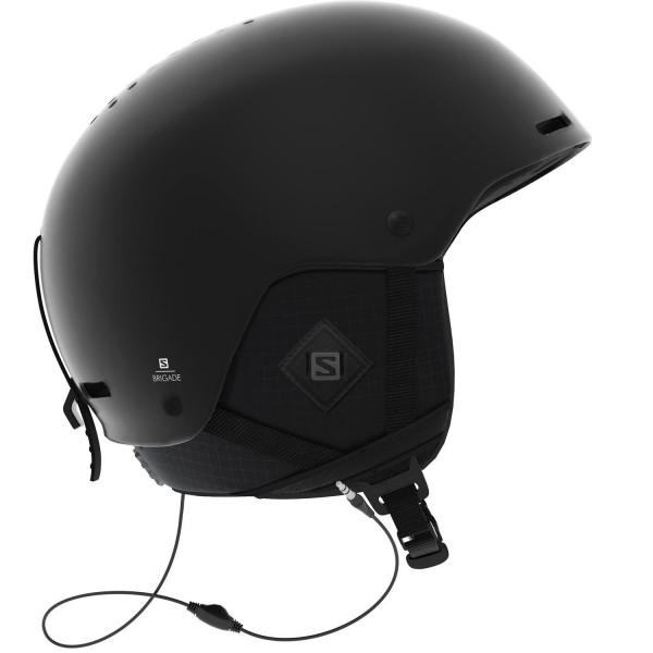 Salomon HELMET BRIGADE+ AUDIO All Black Helm - Bild 1