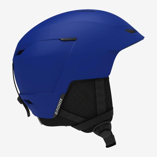 Salomon Helm PIONEER LT ACCESS Race Blue L Skihelm
