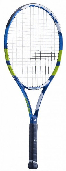 Babolat PULSION 102 STRUNG,bleu vert blanc Tennisschläger