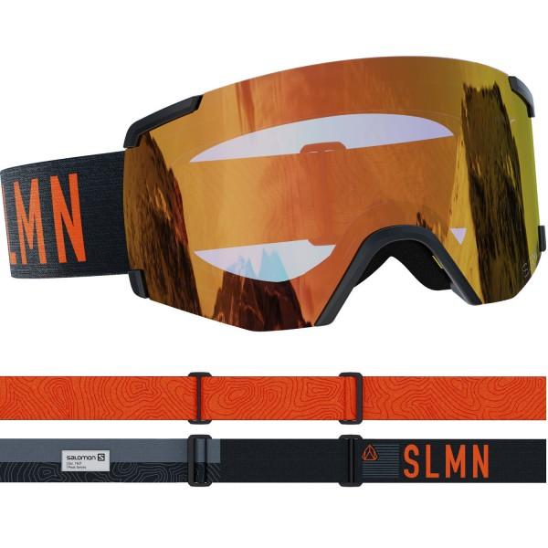 Salomon S/VIEW SIGMA Bk/Uni PoppyRed NS Skibrille