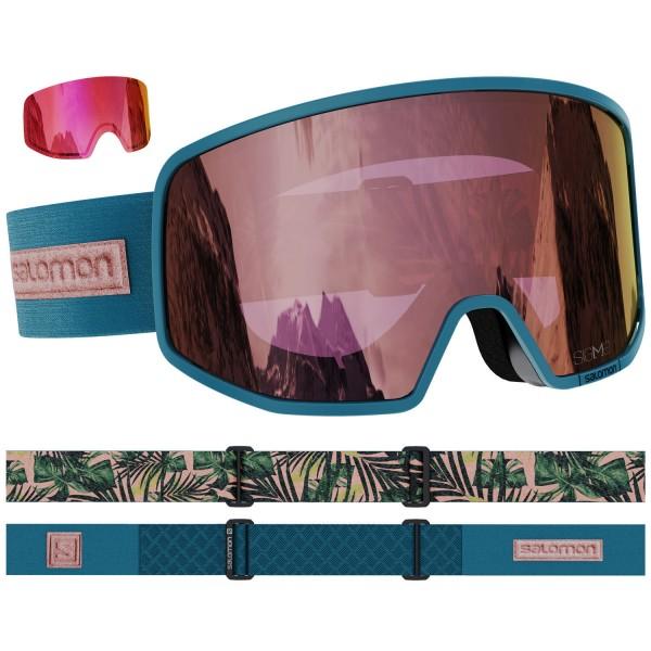 Salomon LO FI SIGMA DpTeal/LoLi S.Pink NS Skibrille