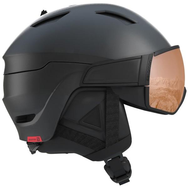 Salomon HELMET DRIVER S Black/Red Accent/UN Helm