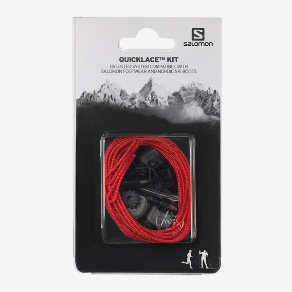 Salomon Schuhe QUICKLACE KIT Red 8.5
