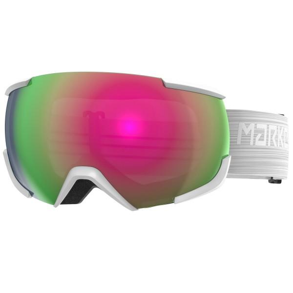 Marker 16:10+OTG SNOWWHITE w/PINK PLASMA Skibrille