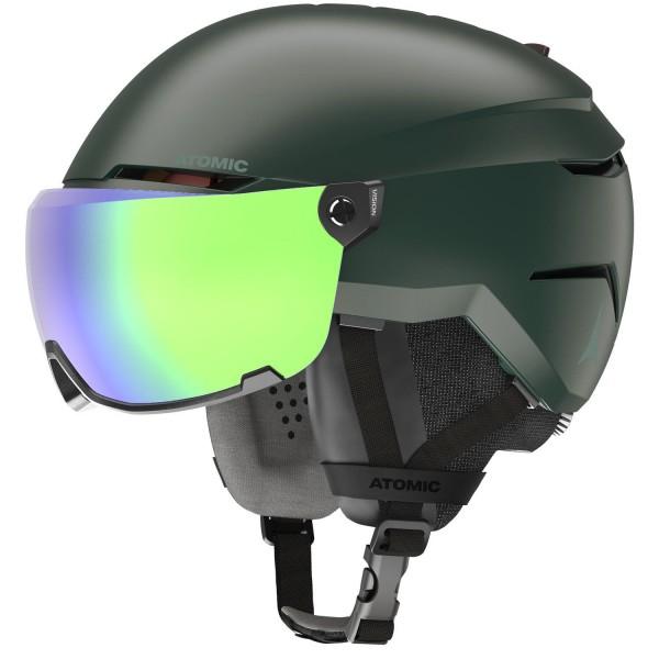 Atomic SAVOR VISOR STEREO Dark Green Skihelm