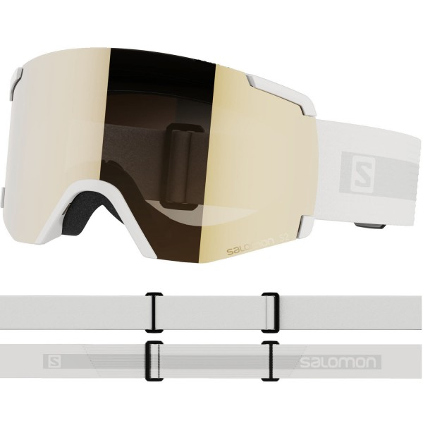 Salomon S/VIEW ACCESS White/Univ. Gold NS Skibrille