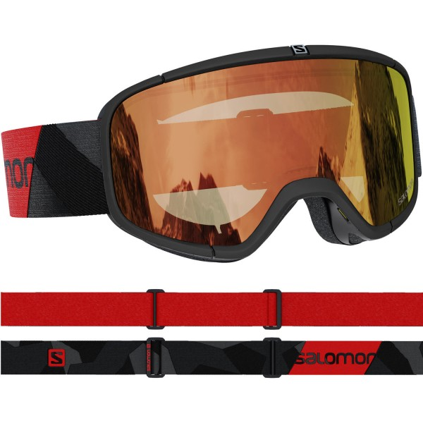Salomon FOUR SEVEN PHOTO BkRed/AW Red NS Skibrille
