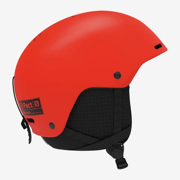 Salomon Helm PACT Neon orange JRM 5659 Skihelm