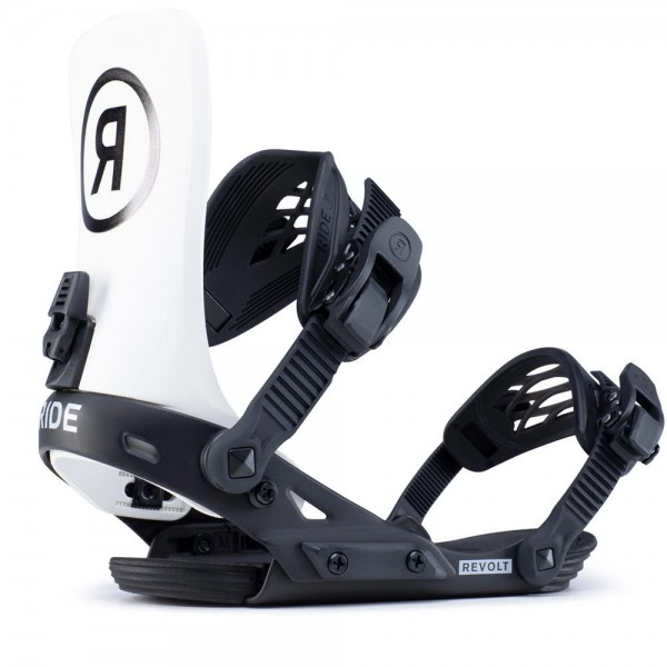 Ride REVOLT off white Snowboardbindung