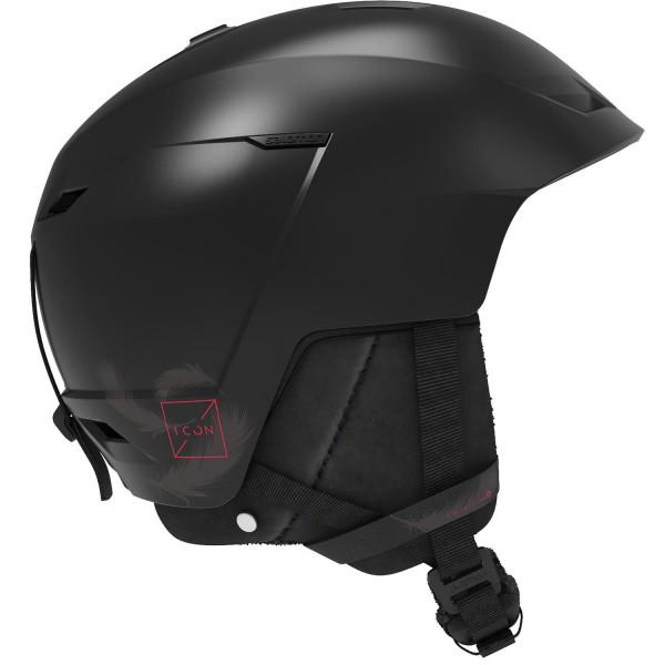 Salomon Helm ICON LT CA Black/Red M 5659 Skihelm