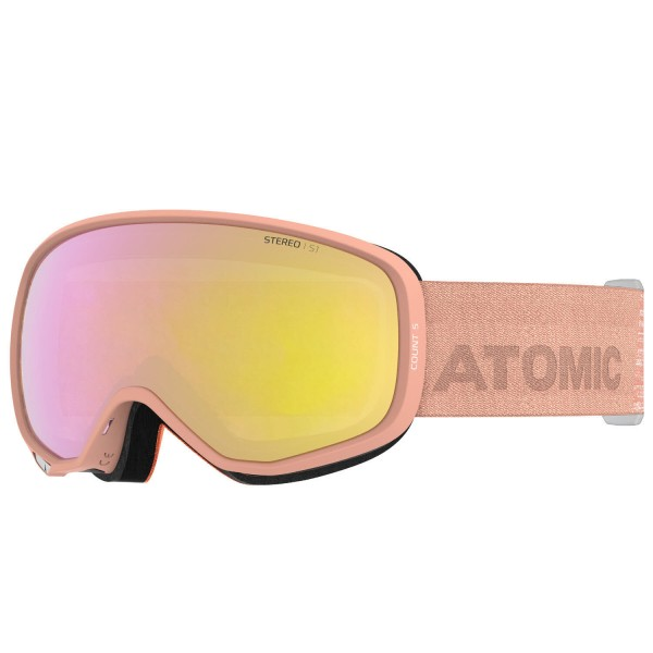 Atomic COUNT S STEREO Peach Skibrille