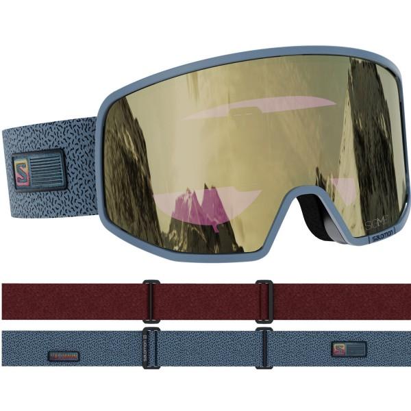Salomon LO FI SIGMA Grey/Sol Bk Gold NS Skibrille