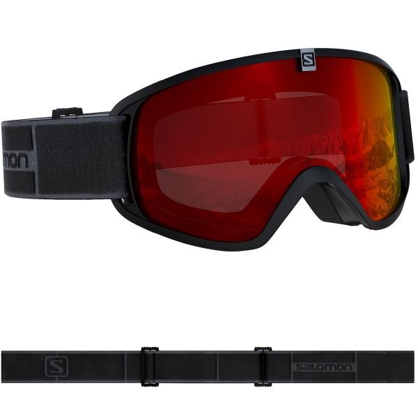 Salomon TRIGGER Black/Univ. Mid Red NS Skibrille